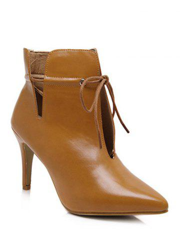 Discount Pointed Toe Stiletto Heel Tip Up Boots