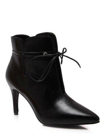 Shops Pointed Toe Stiletto Heel Tip Up Boots
