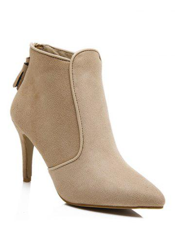 Fancy Tassels Flock Zipper Ankle Boots