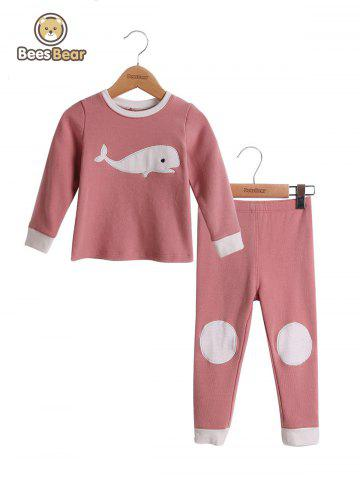 Dolphin Design Homewear Nightwear Sleepwear Pyjamas Sets - PINK - CHILD-8