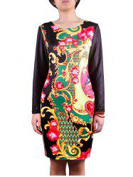Full Sleeve Print Dress -