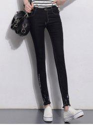 Slimming Skinny Jeans - BLACK