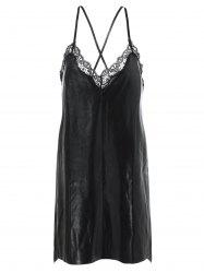 Embroidery Lace Crossback Cami Dress -