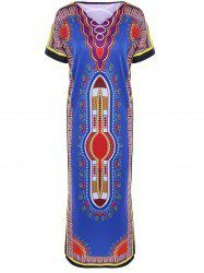 Ethnic Style Printed Maxi Dress -