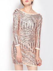 Slimming Gilding Backless Dress