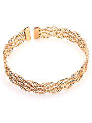 Multilayered Alloy Hollow Out Choker Necklace -