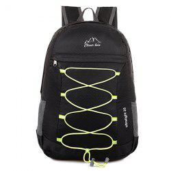 Zippers Nylon Cross Straps Backpack - Noir