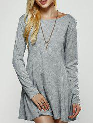 Back Criss Cross Fit and Flare Dress -