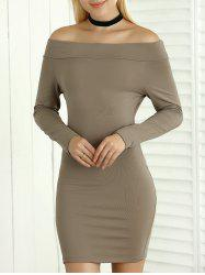 Long Sleeve Bodycon Off The Shoulder Dress
