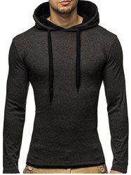 Hooded Long Sleeve Slimming T-Shirt