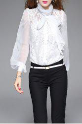 Lace See Through Bodysuit Shirt With Camisole