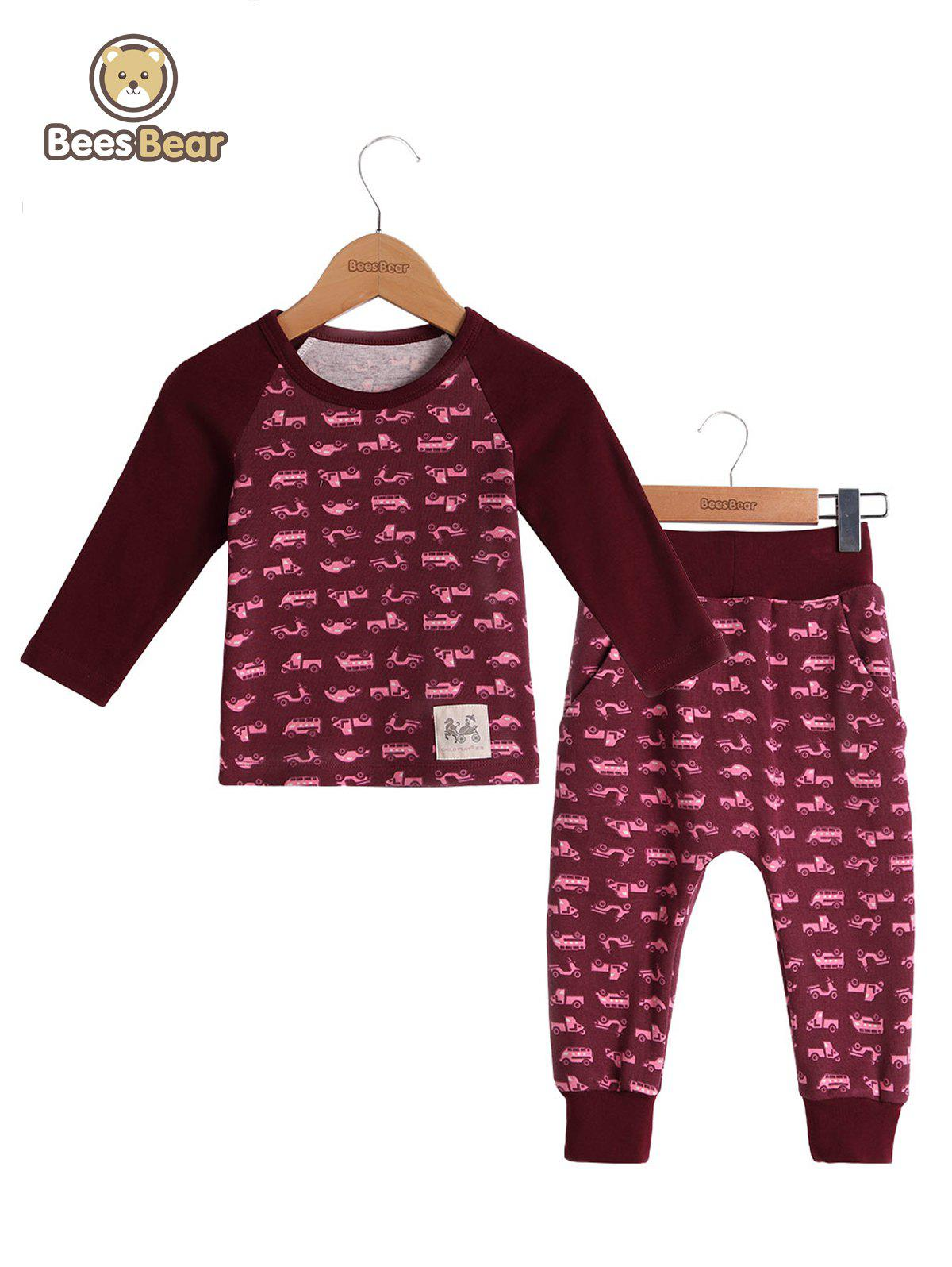 Hot Car Print Homewear Nightwear Sleepwear Pyjamas Sets