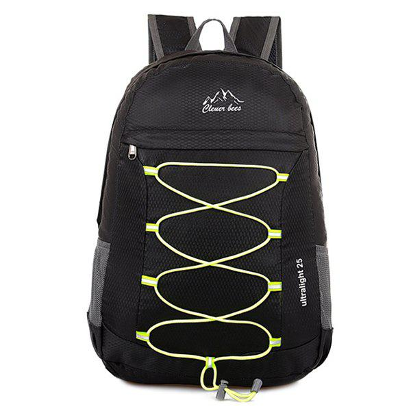 Fashion Zippers Nylon Cross Straps Backpack