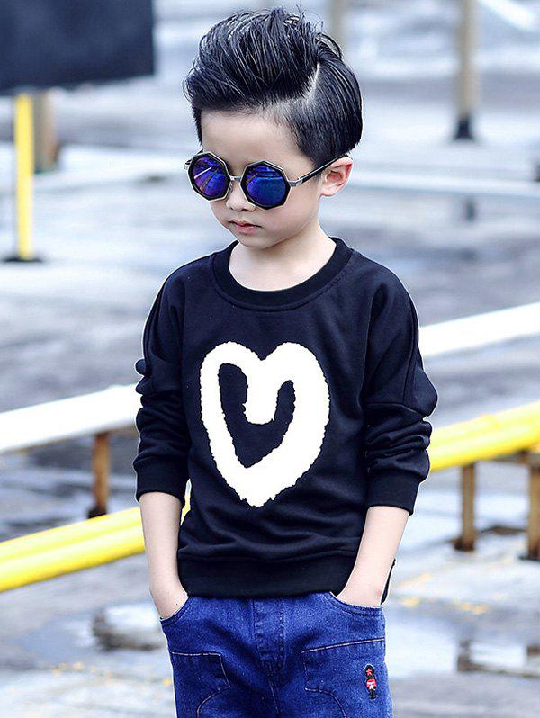 Cheap Long Sleeve Heart Print Sweatshirt