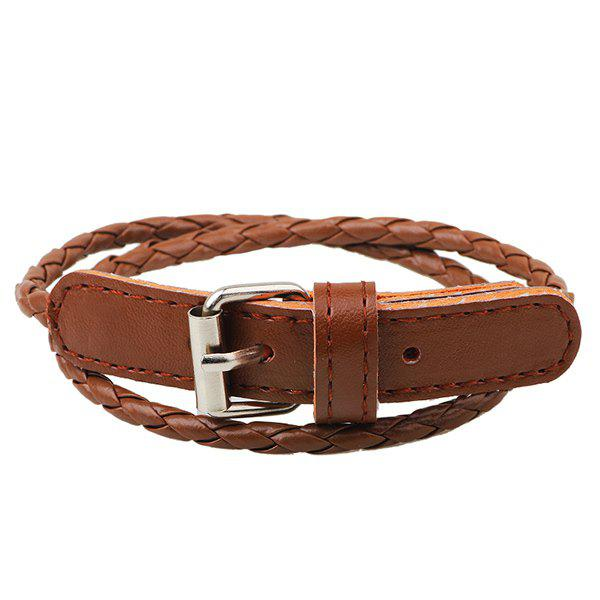Best Faux Leather Woven Wrap Bracelet