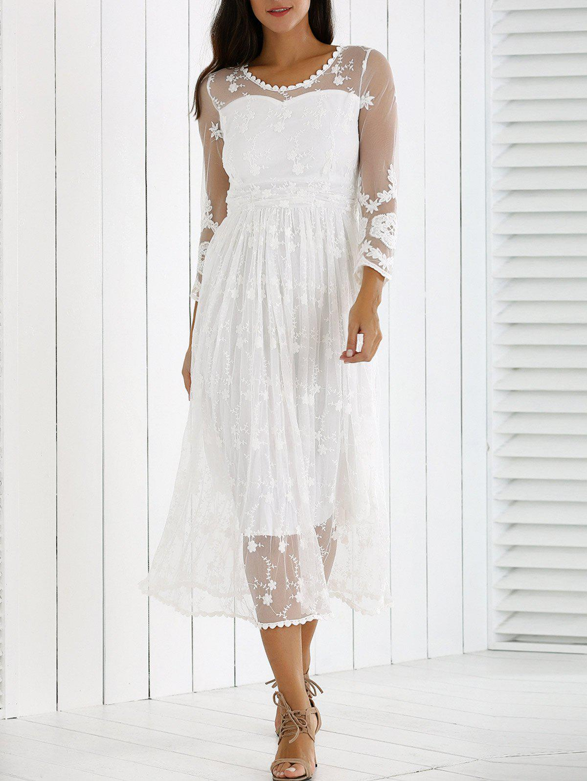 Chic Guipure Mesh Party Laciness Dress