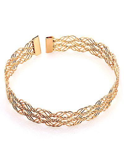 Latest Multilayered Alloy Hollow Out Choker Necklace