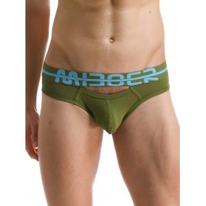 U Convex Pouch Hollow Out Design Band Briefs
