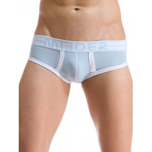 U Convex Pouch Stripe and Edging Design Band Briefs
