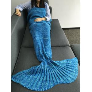 Super Soft Sleeping Bags Yarn Knitted Mermaid Tail Blanket