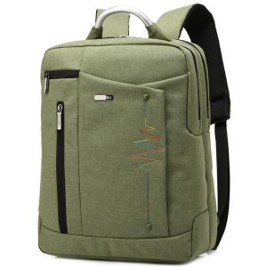 Stitching Nylon Laptop Backpack - Army Green