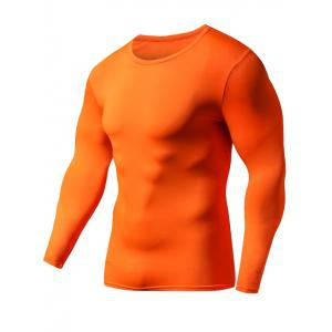 Quick Dry Round Neck Plain Fitness T Shirt