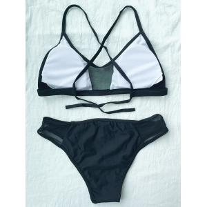 Trendy Spaghetti Straps Solid Color Bikini Set For Women -
