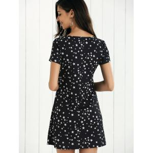 A-Line Star Pattern Mini Dress -