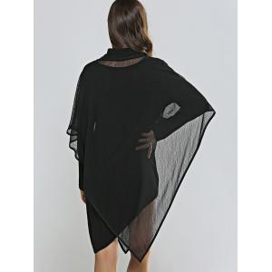 Asymmetical Skinny Dress + Cowl Neck Cape Dress Twinset -