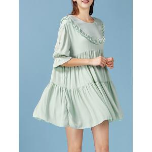 Fairy Ruffled Pleated Smock Dress -