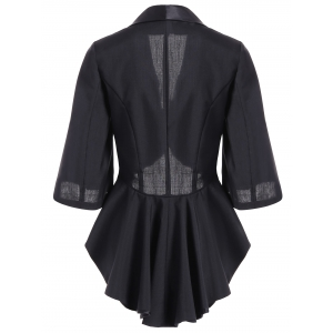 3/4 Sleeve Asymmetrical Slimming Outerwear -