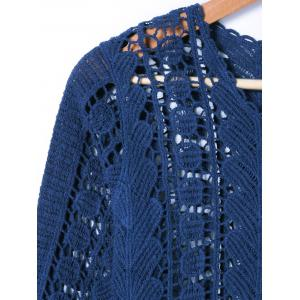 Crochet Long Sleeve Hollow Out Blouse -