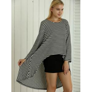 Skinny Tank Dress + Asymmetrical Striped Loose-Fitting Dress Twinset -