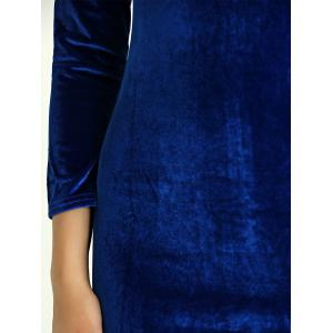 Slimming Backless Suede Dress -