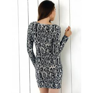 Long Sleeve Bodycon Dress -