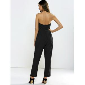 Strapless Metal Embellished Backless Jumpsuit -
