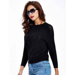 Long Sleeve Cable Sweater -