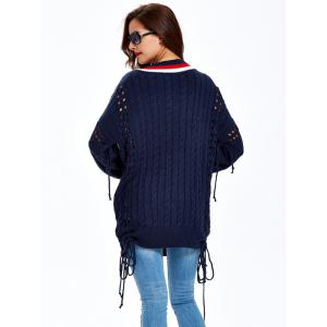 Cable Cutwork Sweater -
