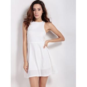 Back Zip Up Cut Out Sleeveless Dress -
