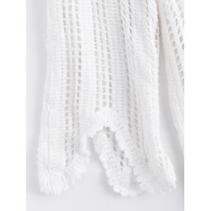 Hollow Out Scalloped Plain Knitwear -