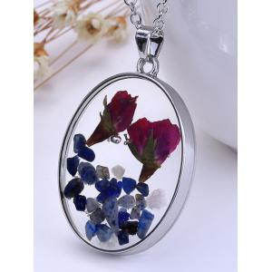 Dry Floral DIY Raw Stone Necklace -