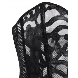 Mesh See-Through Corset with T-Back -