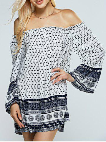Buy Strapless Print Casual Off The Shoulder Dress