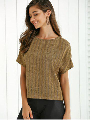 Ribbed Knitted T Shirt