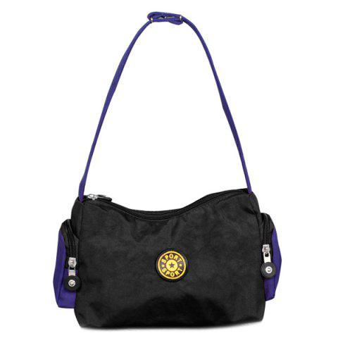 Outfits Zippers Polyester Color Splicing Shoulder Bag