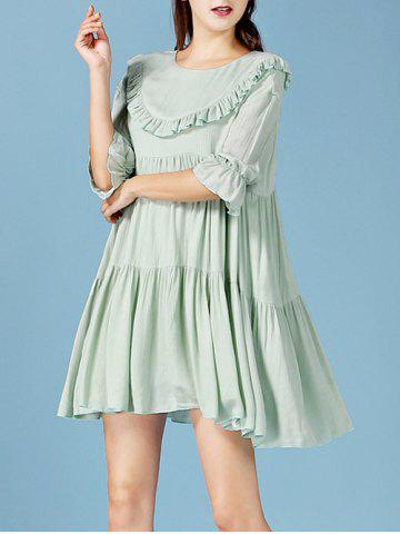 Outfits Fairy Ruffled Pleated Smock Dress
