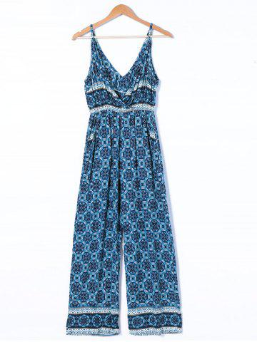 Cheap Ethnic Style Plunging Neck Jumpsuit