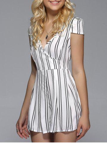 Fashion V Neck Striped Romper