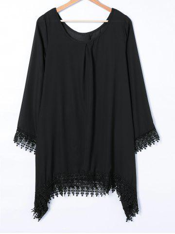 Affordable Asymmetrical Loose Embroidery Dress