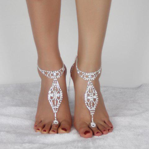 Best Geometric Rhinestoned Toe Ring Anklet